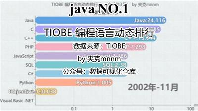 哪个编程语言最受欢迎?-编程语言动态排名-数据可视化