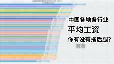 中国各地各行业平均工资,你有没有拖后腿?-数据可视化