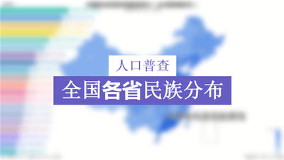 全国各省民族分布(台湾数据缺失)