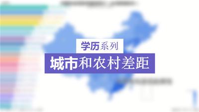 【学历系列】各省城市和农村受教育比例,比例越大城乡差距越大(台湾暂无数据)