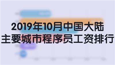 2019年10月中国大陆主要城市程序员工资排行