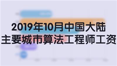 2019年10月中国大陆主要城市算法工程师工资