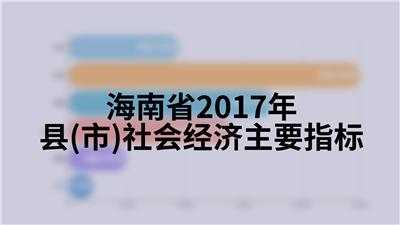 海南省2017年县(市)社会经济主要指标