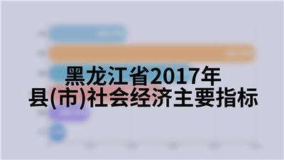 黑龙江省2017年县(市)社会经济主要指标