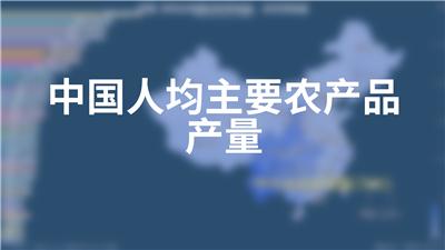 中国人均主要农产品产量