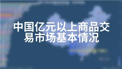 中国亿元以上商品交易市场基本情况