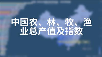 中国农、林、牧、渔业总产值及指数