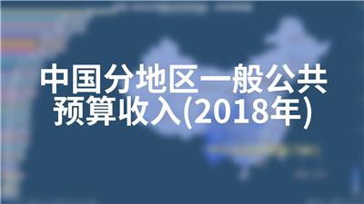 中国分地区一般公共预算收入(2018年)