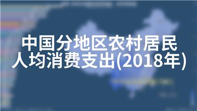 中国分地区农村居民人均消费支出(2018年)