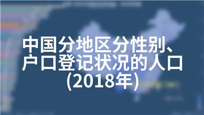 中国分地区分性别、户口登记状况的人口(2018年)