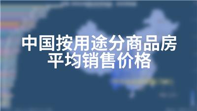 中国按用途分商品房平均销售价格