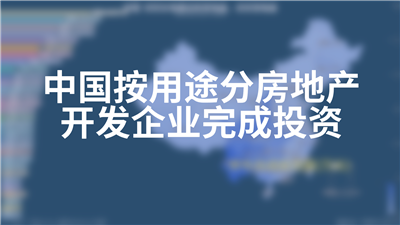 中国按用途分房地产开发企业完成投资