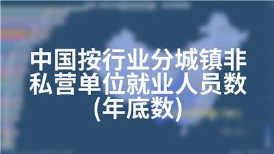 中国按行业分城镇非私营单位就业人员数(年底数)