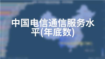 中国电信通信服务水平(年底数)