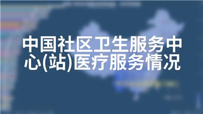 中国社区卫生服务中心(站)医疗服务情况