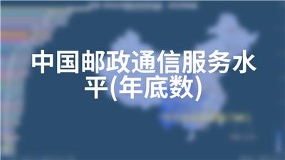 中国邮政通信服务水平(年底数)
