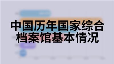 中国历年国家综合档案馆基本情况