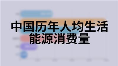 中国历年人均生活能源消费量