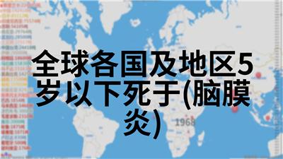 全球各国及地区5岁以下死于(脑膜炎)