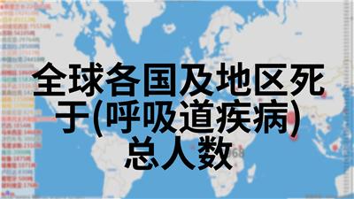 全球各国及地区死于(呼吸道疾病)总人数
