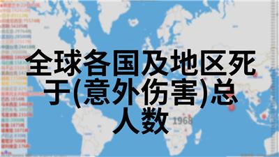 全球各国及地区死于(意外伤害)总人数