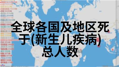 全球各国及地区死于(新生儿疾病)总人数