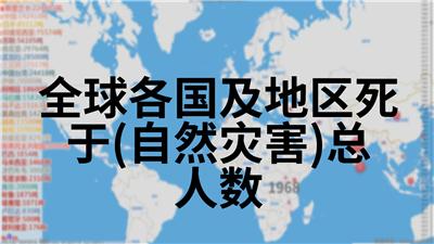 全球各国及地区死于(自然灾害)总人数