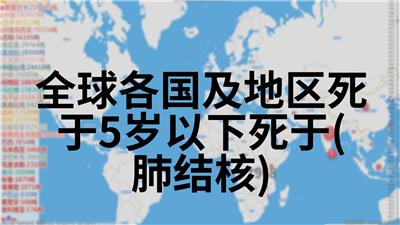 全球各国及地区死于5岁以下死于(肺结核)