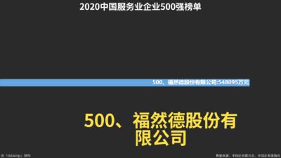 2020中国服务业企业500强榜单