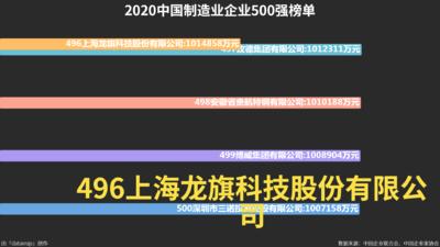 2020中国制造业企业500强榜单